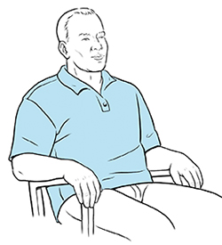 Man sitting in chair.